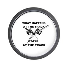 AT THE TRACK Wall Clock
