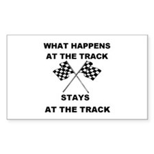 AT THE TRACK Rectangle Decal