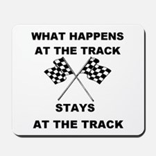 AT THE TRACK Mousepad