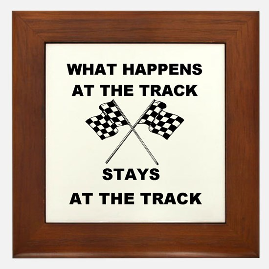 AT THE TRACK Framed Tile