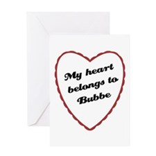My Heart Belongs to Bubbe Greeting Card