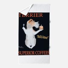 Terrier Superior Coffees Beach Towel