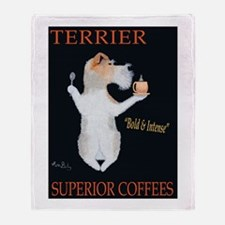 Terrier Superior Coffees Throw Blanket