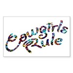Cowgirls Rule Rectangle Sticker