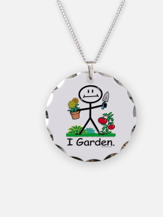 Gardening Stick Figure Necklace