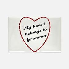 My Heart Belongs to Gramma Rectangle Magnet