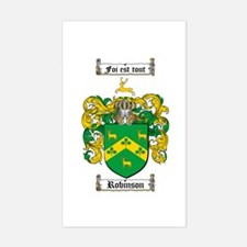 Robinson Coat of Arms Rectangle Decal
