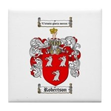 Robertson Coat of Arms Tile Coaster