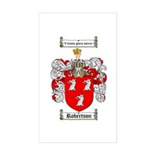 Robertson Coat of Arms Rectangle Stickers