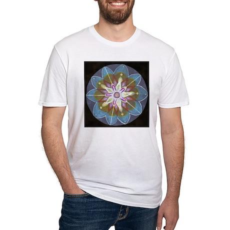 Blue Mandala Fitted T-Shirt