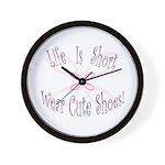 Wear Cute Shoes Wall Clock
