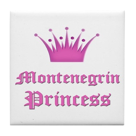 Montenegrin Princess Tile Coaster