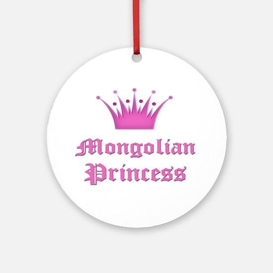 Mongolian Princess Ornament (Round)