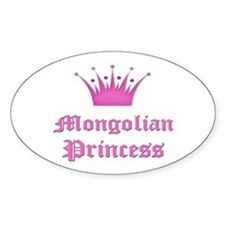 Mongolian Princess Oval Decal