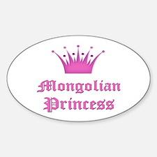 Mongolian Princess Oval Decal