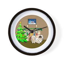 Pekingese Christmas Wall Clock