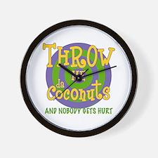 Throw Me da Coconuts Wall Clock