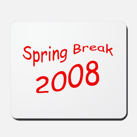 Red Spring Break Mousepad