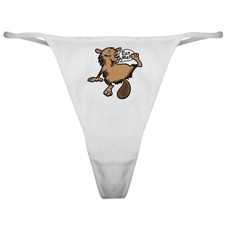 Text Back + Beaver - Colour + Lines Classic Thong