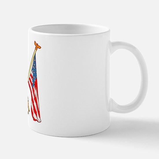 American Flags German Shepard Mug