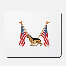 American Flags German Shepard Mousepad