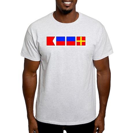 Nautical Flag Alphabet BEER Ash Grey T-Shirt