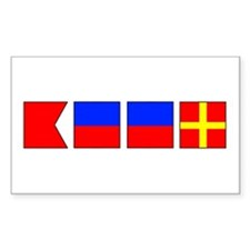 Nautical Flag Alphabet BEER Rectangle Decal