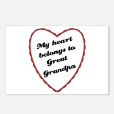My Heart Belongs to Great Grandpa Postcards (Packa