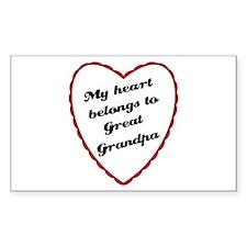 My Heart Belongs to Great Grandpa Decal