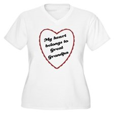 My Heart Belongs to Great Grandpa T-Shirt