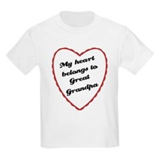 My Heart Belongs to Great Grandpa T-Shirt