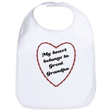 My Heart Belongs to Great Grandpa Baby Bib