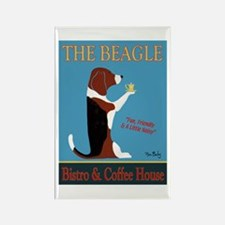 The Beagle Bistro & Coffee Shop Rectangle Magnet