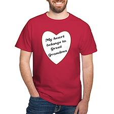 My Heart Belongs to Great Grandma T-Shirt