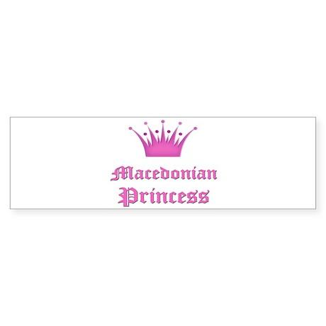 Macedonian Princess Bumper Sticker