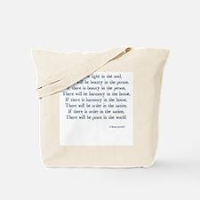 beauty light peace Tote Bag