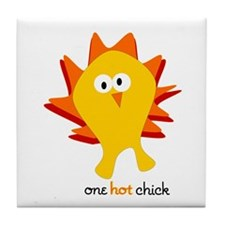 One Hot Chick Tile Coaster