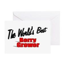 """""""The World's Best Berry Grower"""" Greeting Card"""