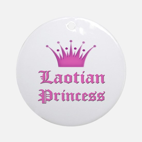 Laotian Princess Ornament (Round)