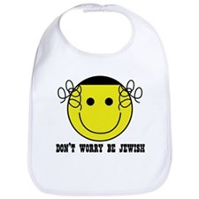 Don't Worry Be Jewish Bib