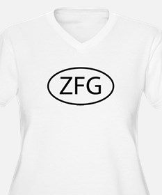 ZFG Womes Plus-Size V-Neck T-Shirt