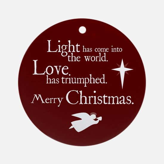 Light & Love Ornament (Round)