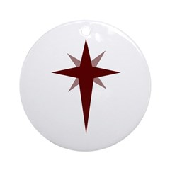Christmas Star Ornament (Round)