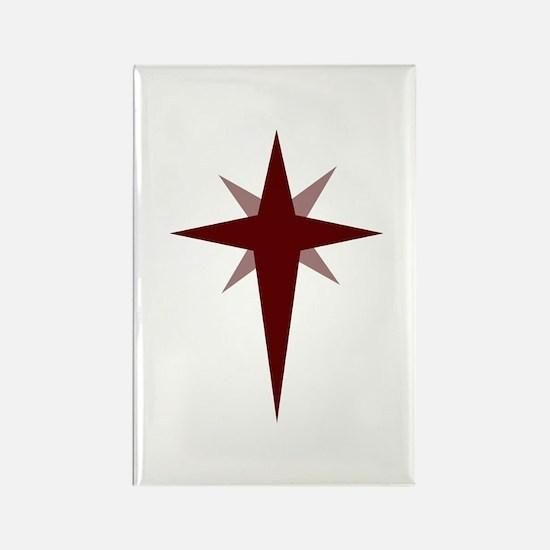Christmas Star Rectangle Magnet