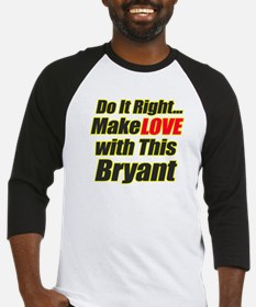 Make Love with this Bryant Baseball Jersey