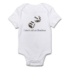 I don't roll on Shabbos Infant Bodysuit