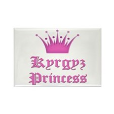 Kyrgyz Princess Rectangle Magnet