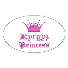 Kyrgyz Princess Oval Decal