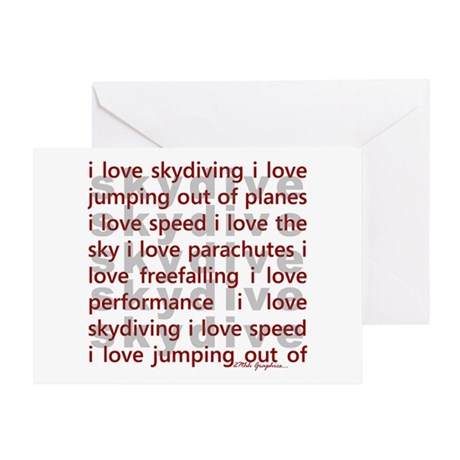 I love Skydiving Greeting Card