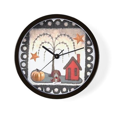 Praire House Dog t-shirt shop Wall Clock